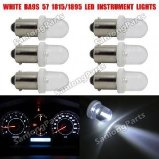 Buy 6X BA9S 1895 57 53 H6W Bayonet White LED Dashboard Gauge Cluster Dash Light Lamp motorcycle in Milpitas, California, United States