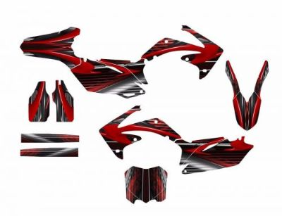 Buy CRF 450R graphics decal kit for 2009 2010 2011 2012 Honda #3333 Red motorcycle in Temecula, California, United States, for US $149.00