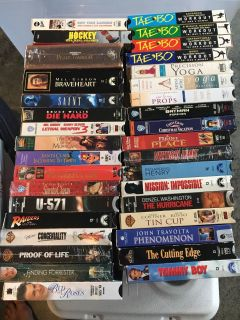 VHS movies $1 each to whoever wants them