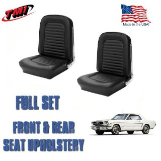 Find Front and Rear Seat Covers, Upholstery Black 1964-1965 Mustang motorcycle in Los Angeles, California, United States, for US $299.99