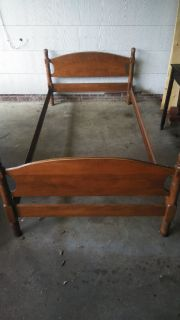 Twin Bed - Vintage Wood