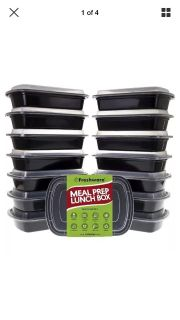 15 pack bento lunch boxes with lids- brand new