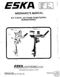 Buy ESKA SEARS and more 104 page MECHANICS SERVICE 3 - 7.5hp repair manual cd motorcycle in Shawano, Wisconsin, United States, for US $9.99