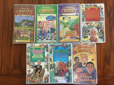 Adventures in Odyssey 7 cassette tape sets