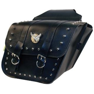Purchase Willie and Max Compact Studded Slant Saddlebag Motorcycle Luggage motorcycle in Louisville, Kentucky, US, for US $116.99