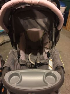 Stroller with car seat and 2 bases