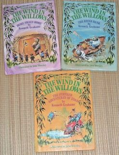 Lot of 3 Vintage 1983 Tales From The Wind In The Willows Hard Cover Book Series