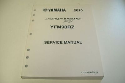 Purchase YAMAHA ATV DEALER TECHNICAL SHOP SERVICE MANUAL 2010 YFM90RZ RAPTOR 90 motorcycle in Sunbury, Pennsylvania, United States, for US $39.95