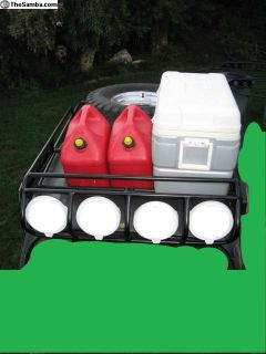 """Offroad roof rack with 7"""" Clear lights"""