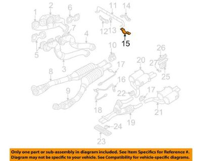 Purchase BMW OEM 00-03 M5 5.0L-V8 Exhaust-Support Clamp 18301407092 motorcycle in Shrewsbury, Massachusetts, United States, for US $28.52
