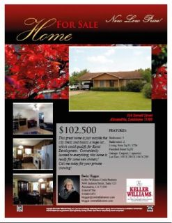 96589658New Low Price---316 Stovall Street 96689668 (Becky Riggar 318-481-2472)