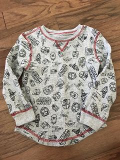 Boys thermal Star Wars shirt, size 4