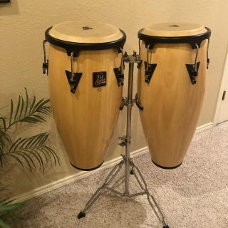 Latin Percussion Aspire Conga Set with Adjustable Stand
