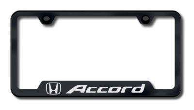 Sell Honda Accord Laser Etched Cut-Out License Plate Frame-Black Made in USA Genuine motorcycle in San Tan Valley, Arizona, US, for US $34.70