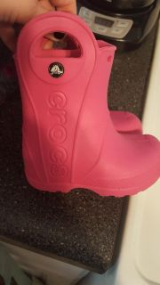 Girl Croc Boots Size 6