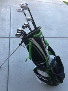 TaylorMade Golf clubs and Bag