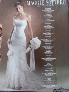 New Maggie sottero wedding dress with matching veil