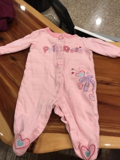 Size 3 month baby girl pajama