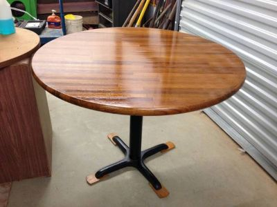 Oak butcher-block dining or conference table