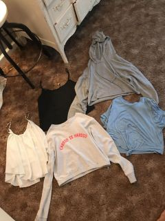 Cropped hoodie and other cropped tops