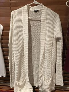 Womans white Cardigan size small