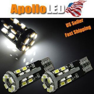 Purchase 2pcs White Error Free 168 2825 W5W 920 22-SMD LED Bulbs Parking Lights #E1 motorcycle in Marietta, GA, US, for US $18.99