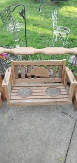 Wooden swing for potted plants
