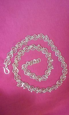 Sterling heavy Necklace- One of a Kind!