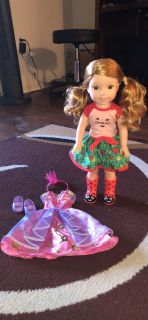Wellie wishers Doll & extra outfit