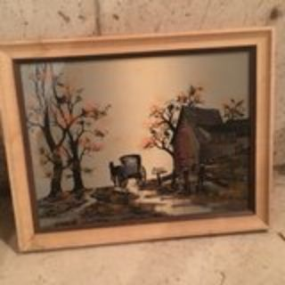 Oil painting by Hargrove on canvas and wood frame
