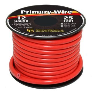 Sell Red 12-Gauge Primary Wire Roll of 25Ft motorcycle in Sylmar, California, United States, for US $8.50