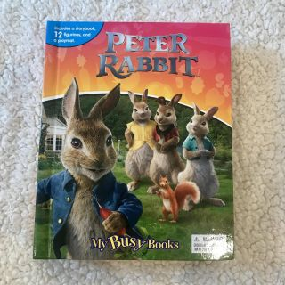 Peter Rabbit ~ story book with figures and play may. BRAND NEW!
