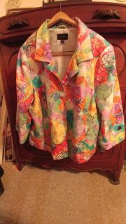 INVESTMENTS ll: Woman's multi color blazer.