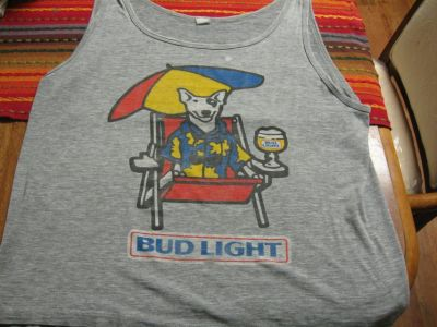 Spuds MacKenzie Bud Light Shirt-Rare