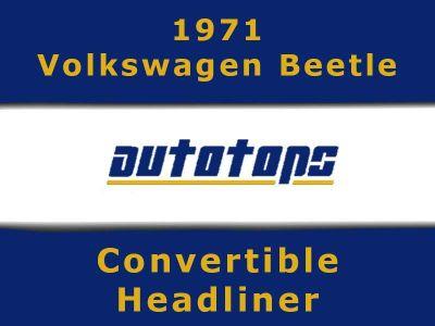 Buy 1971 VW Volkswagen Beetle Convertible top HEADLINER HEAD LINER motorcycle in Shamokin, Pennsylvania, US, for US $175.00