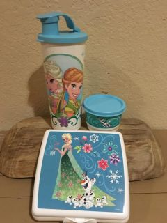 FROZEN- Tupperware child s cup/snack containers -NeW