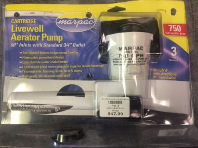Purchase Marpac Johnson Pump Cartridge Livewell Aerator Pump, 750 GPH motorcycle in Scottsville, Kentucky, United States, for US $22.50