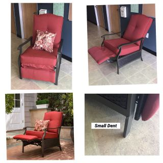 Better Homes and Gardens Providence Outdoor Recliner - Red **Small Dent**