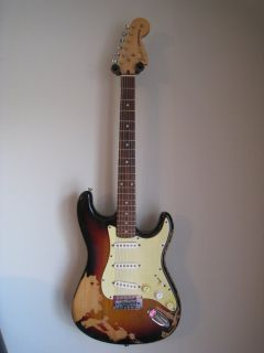Vintage 1965 Fender Stratocaster Sunburst Electric Guitar