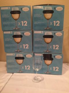 6 boxes of 12 wine glasses