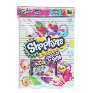 Shopkins trading card binder set and cards NEW