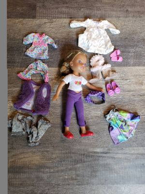 """Heart to Heart 14"""" doll and outfits"""