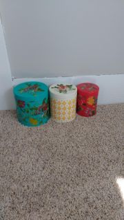 Pioneer woman tin canisters (euc)