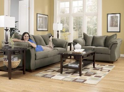 Ashley coach and love seat
