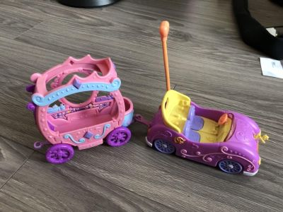 My little pony Battery operated car and cart