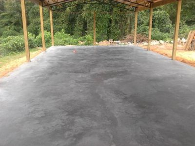 Affordable concrete, Stamped concrete Pole barn foundations