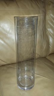 19 14 x 4 clear glass cylinder vases