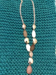 Silver pewter gold charcoal plated style necklace