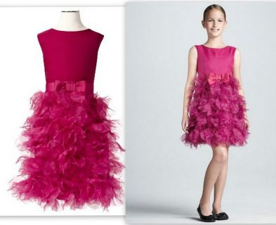 Marchesa Girl's 7/8 M Fuscia Pink Dress Neiman Marcus Collection