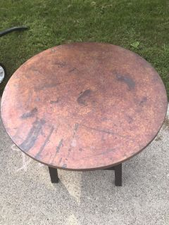 Copper Top End table
